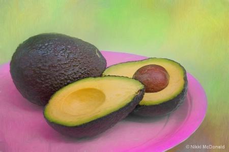 Avocado on Pink