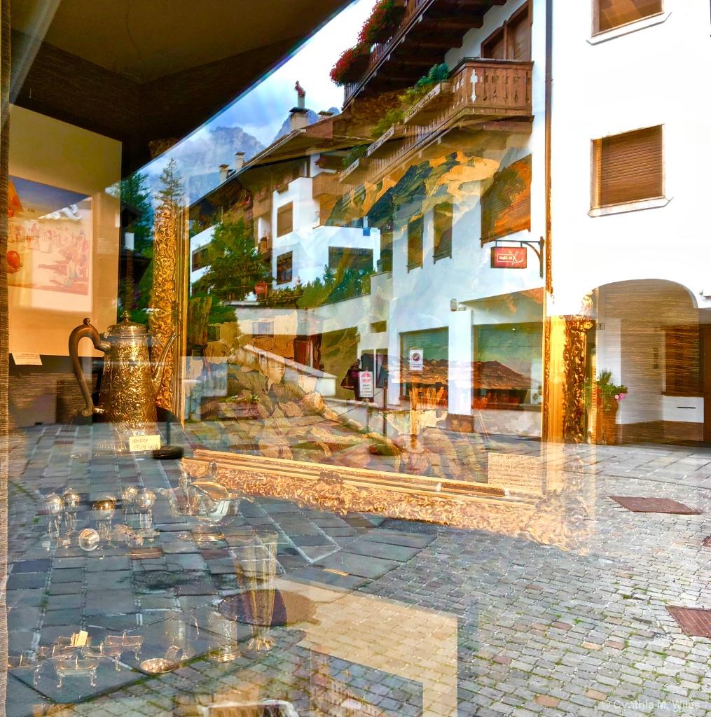 Window Reflections in Cortina - ID: 15629492 © Cynthia M. Wiles