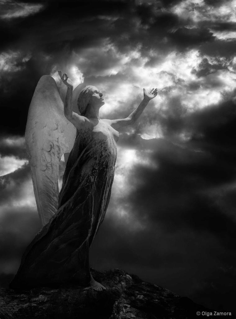 Angel at the Light - ID: 15632396 © Olga Zamora