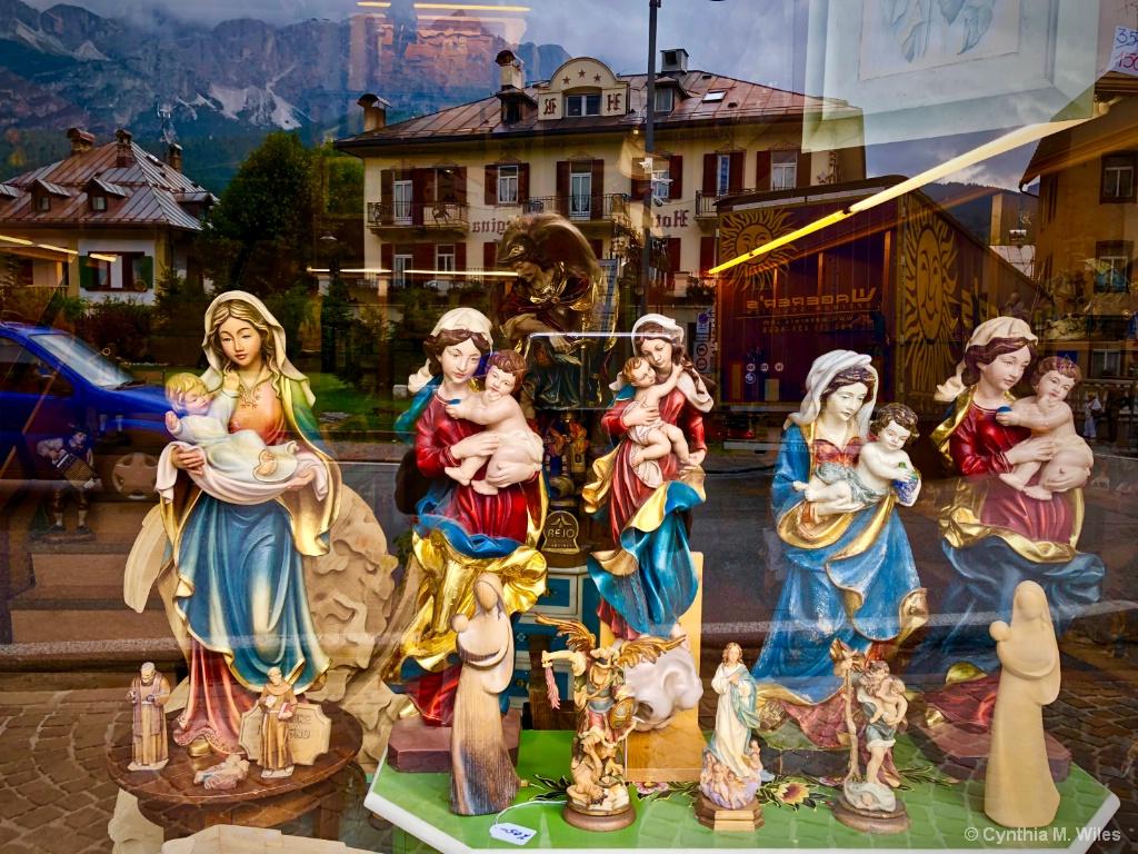 Miniature Madonnas In the Window - ID: 15635078 © Cynthia M. Wiles