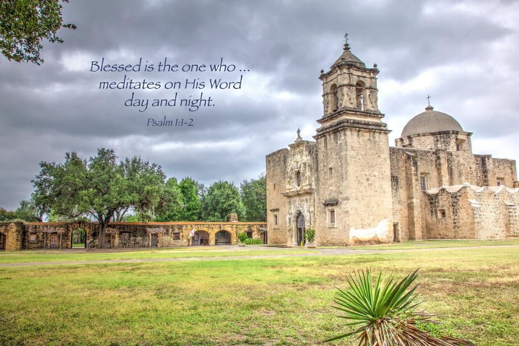 Mission San Jose / Psalm 1:1-2 - ID: 15647586 © Leland N. Saunders