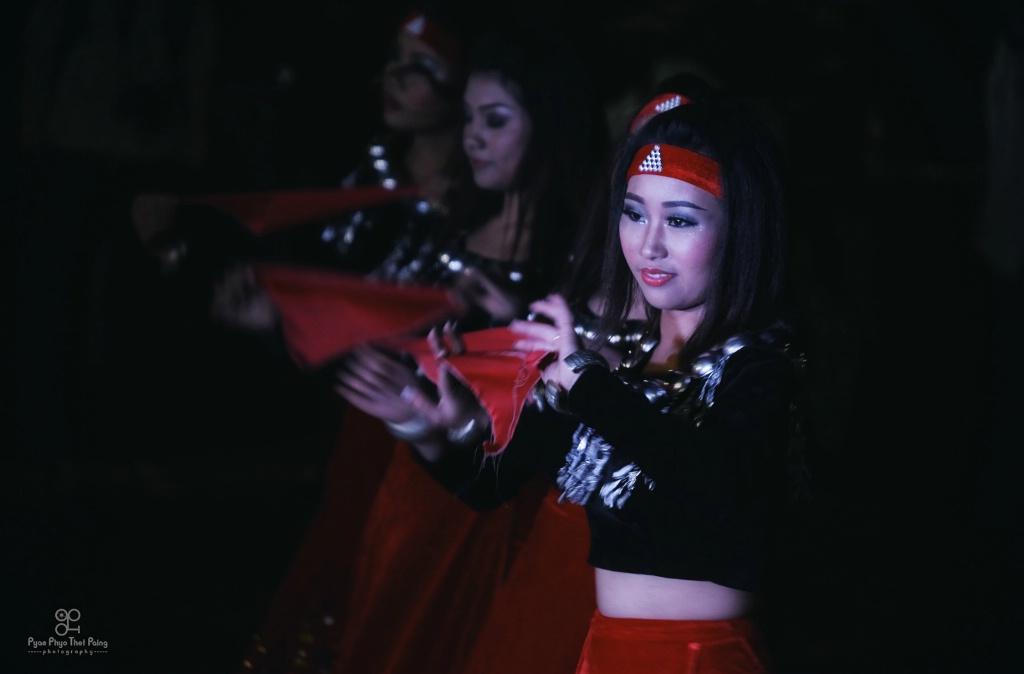 Dancing of Kachin tribe girls