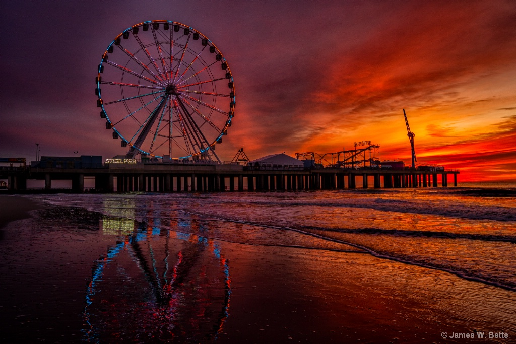 Atlantic City Steel Pier Sunrise