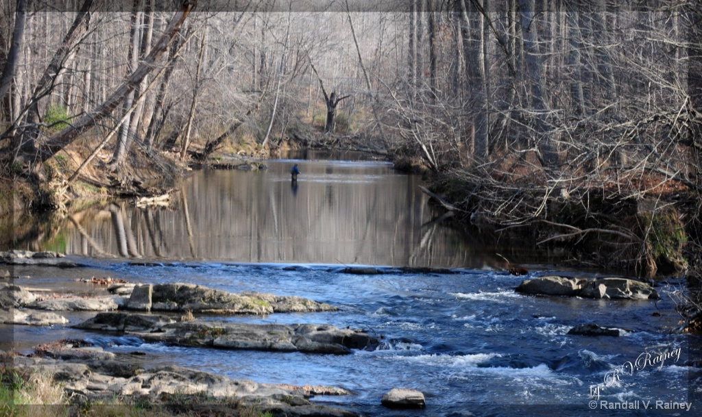Winter Fly Fishing . . . - ID: 15676316 © Randall V. Rainey
