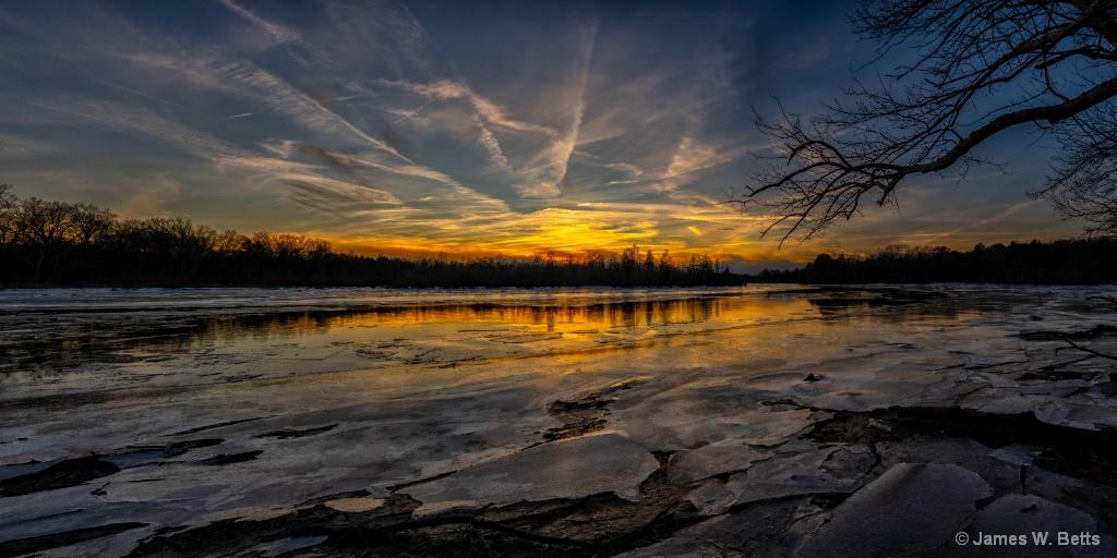 Cold Sunset, Tuckahoe River, NJ