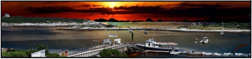 Sun Down on the Isle of Shoals Harbor . . . - ID: 15679512 © Randall V. Rainey