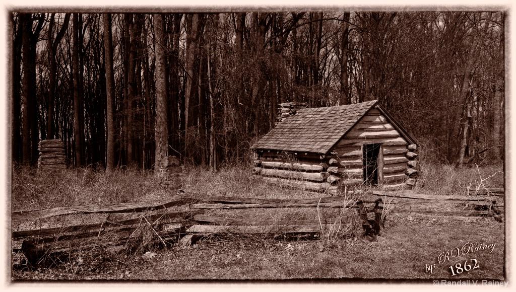 Antietam Cabin in Sepia - ID: 15681219 © Randall V. Rainey