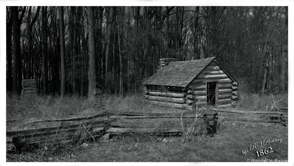 Antietam Cabin B&W - ID: 15688783 © Randall V. Rainey
