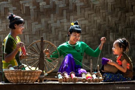 preparing weaving